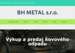 redesign web stranky bhmetal.sk